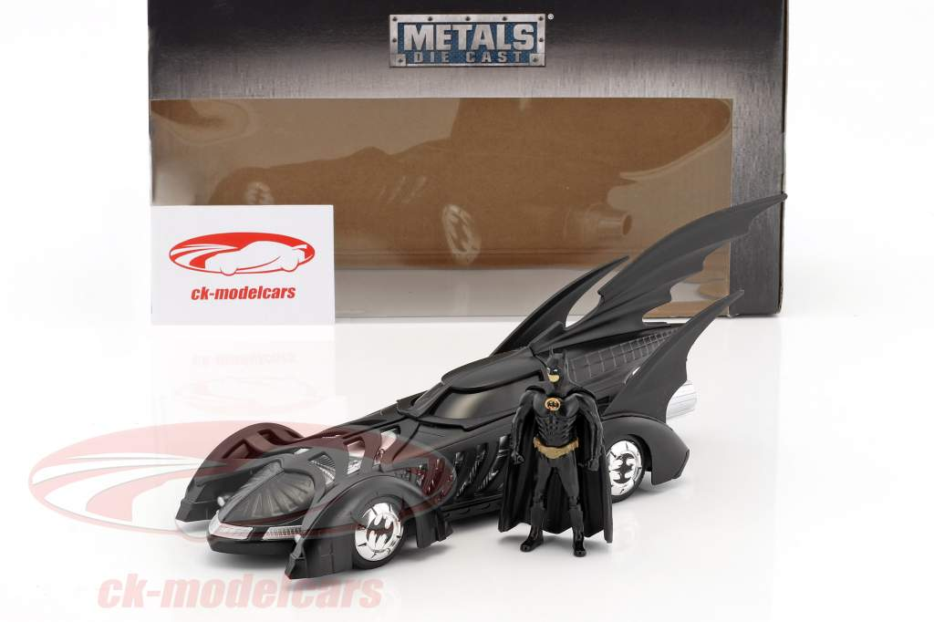Batmobile film Batman Forever (1995) noir avec figure Batman 1:24 Jada Toys
