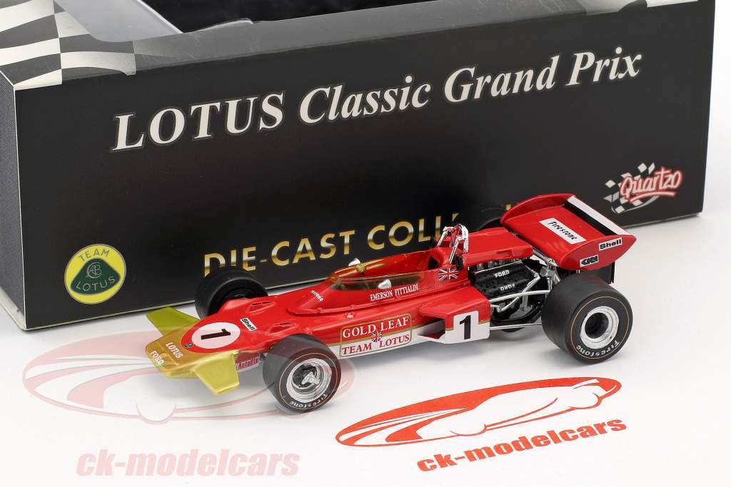 Emerson Fittipaldi Lotus 72D #1 français GP formule 1 1970 1:43 Quartzo