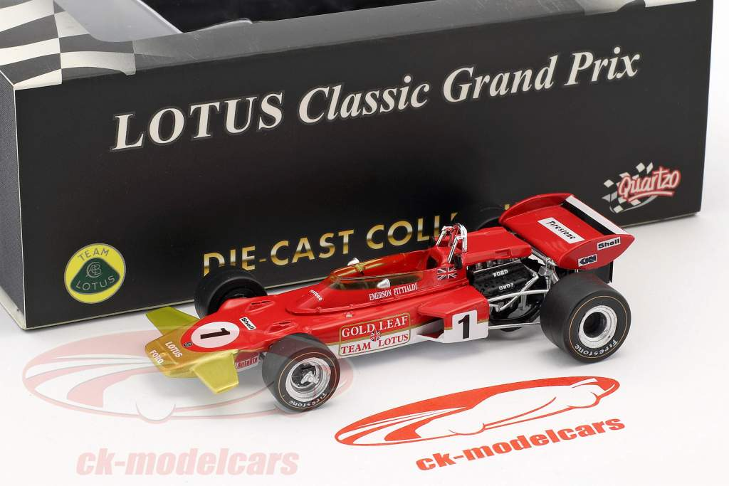 Emerson Fittipaldi Lotus 72D #1 French GP Formel 1 1970 1:43 Quartzo