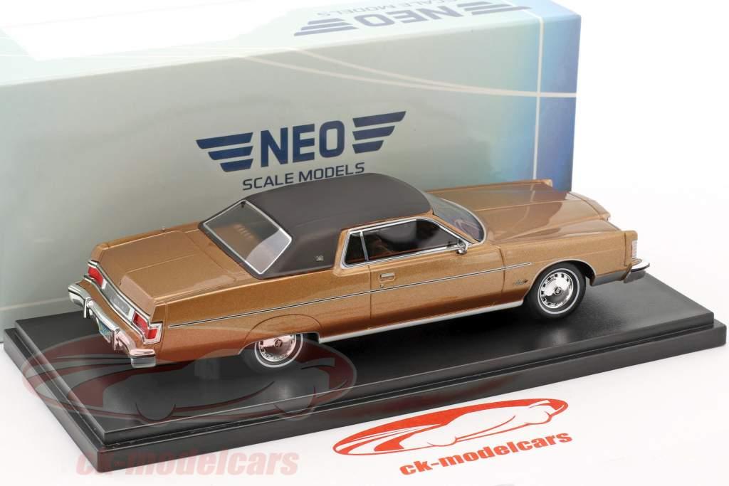 Mercury Marquis 2-Türer Hardtop Coupe anno 1976 marrone metallico 1:43 Neo