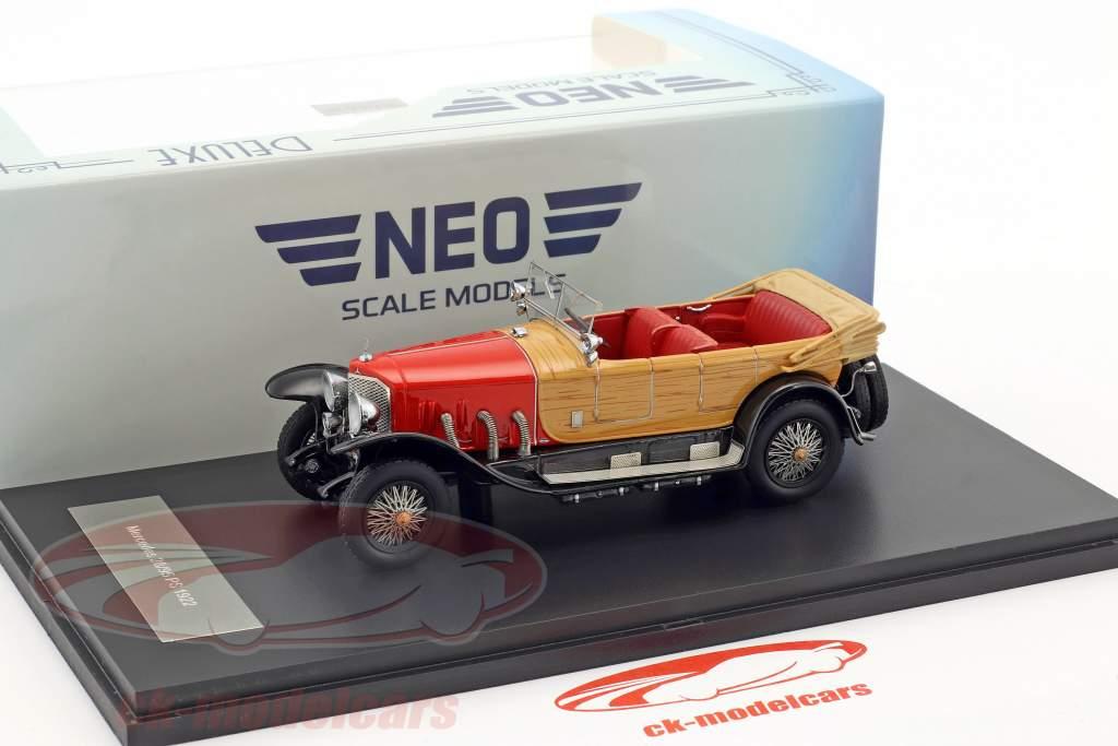 Mercedes 28/95 PS RHD anno 1922 rosso / ottica di legno 1:43 Neo