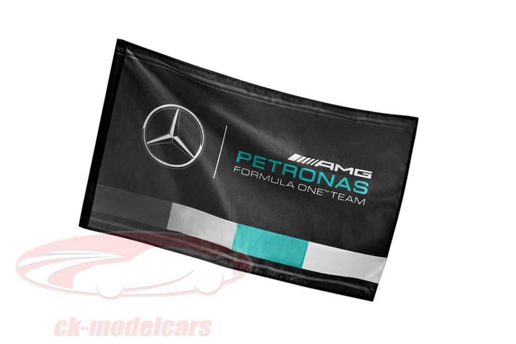 Mercedes-Benz AMG Petronas squadra bandiera nero 90 x 60 cm