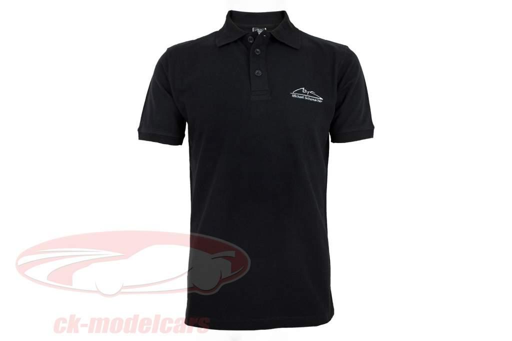 Michael Schumacher polo Logo nero
