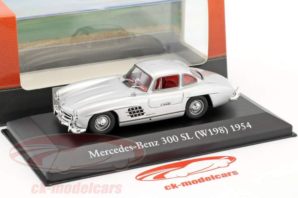 Mercedes-Benz 300 SL (W198) anno di costruzione 1954 argento 1:43 Atlas