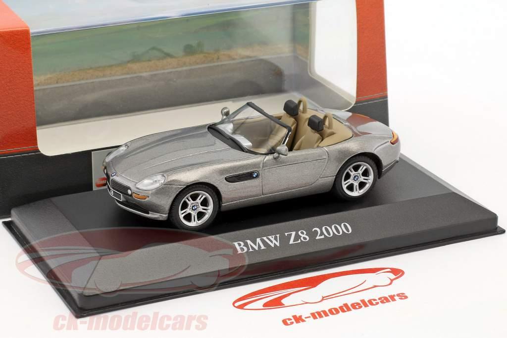 BMW Z8 año de construcción 2000 gris metálico 1:43 Atlas