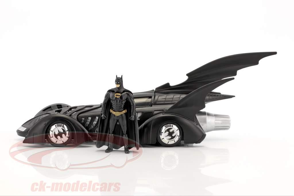 Batmobile Movie Batman Forever (1995) black With figure Batman 1:24 Jada Toys