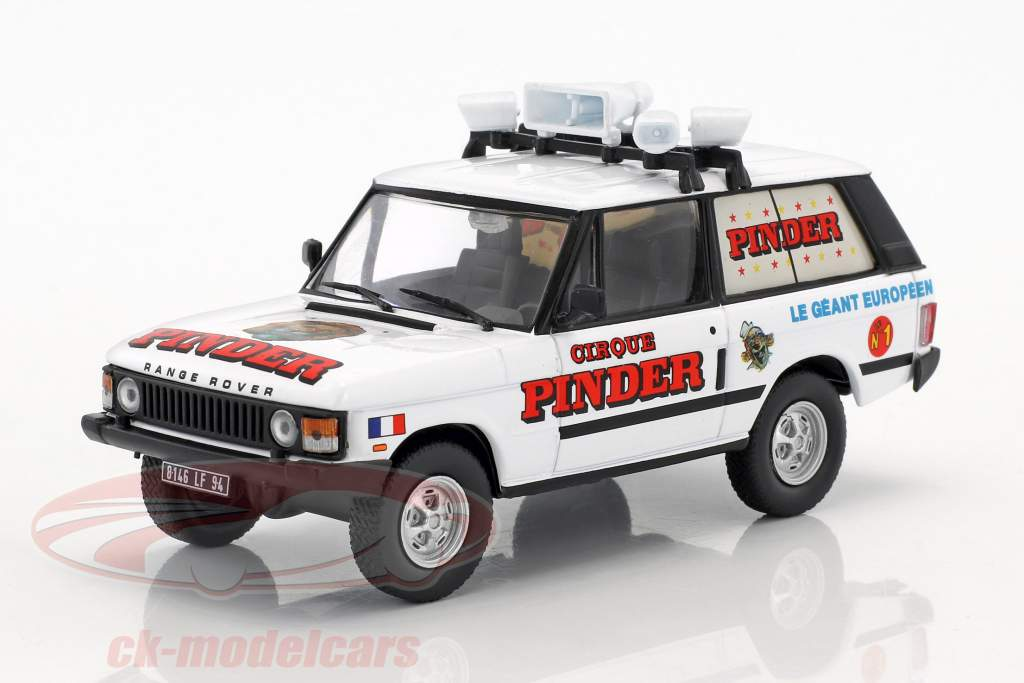 Range Rover pubblicità veicolo Pinder circo bianco / rosso in bolla 1:43 Direkt Collections