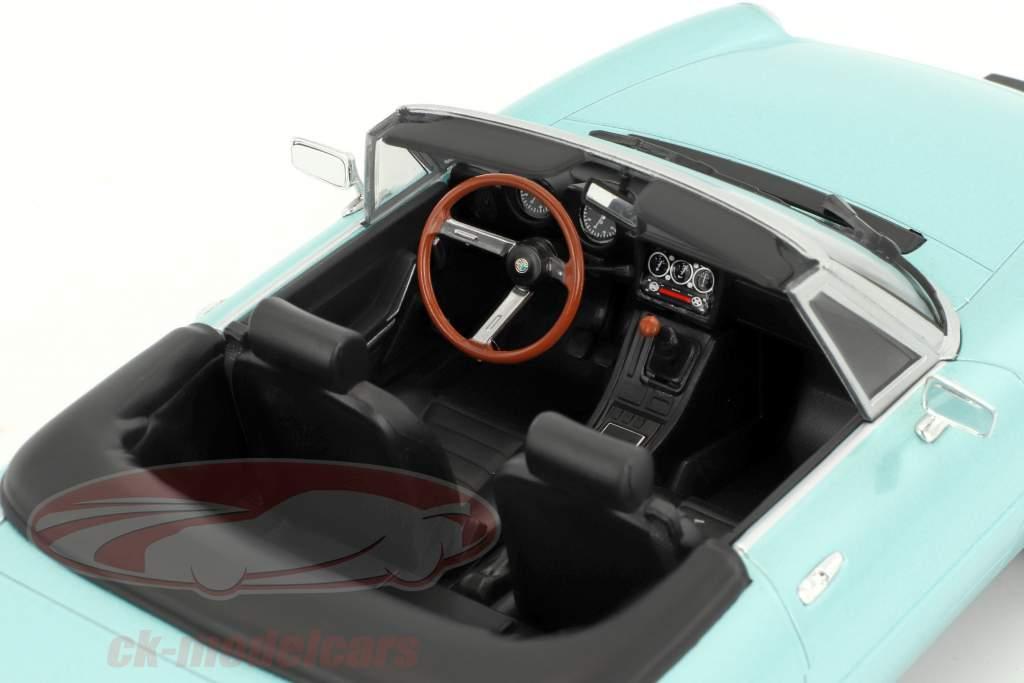 Alfa Romeo Spider 3 Serie 1 avec amovible softtop année de construction 1983 turquoise 1:18 KK-Scale