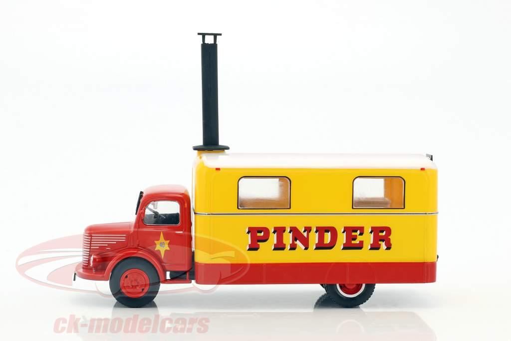 Unic ZU 51 Kitchen Truck Pinder circus year 1952 yellow / red 1:43 Direkt Collections