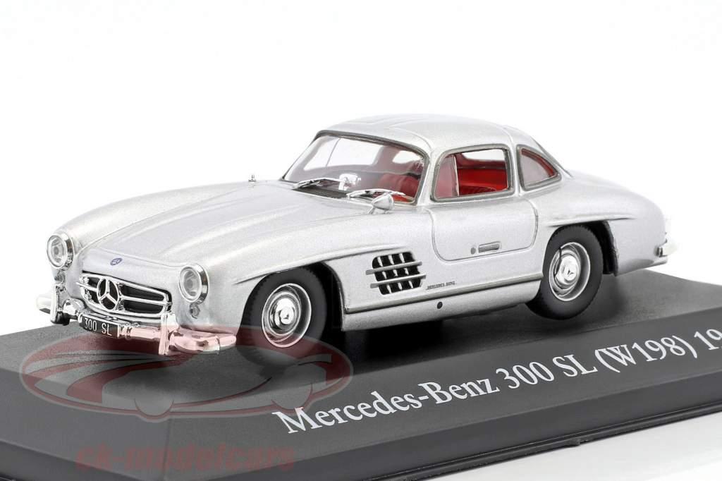 Mercedes-Benz 300 SL (W198) Bouwjaar 1954 zilver 1:43 Atlas