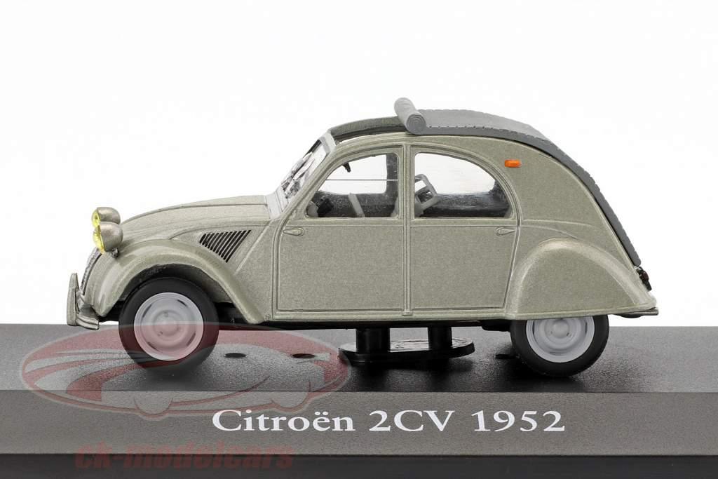 Citroen 2CV year 1952 grey metallic 1:43 Atlas