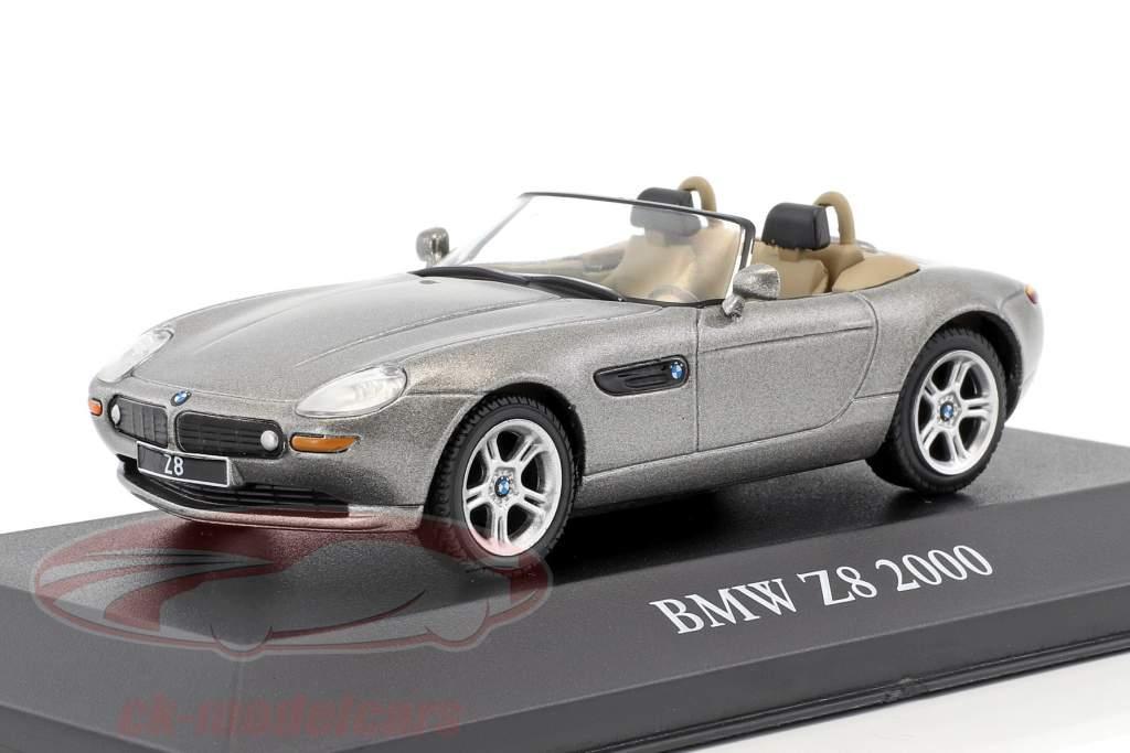 BMW Z8 ano de construção 2000 cinza metálico 1:43 Atlas