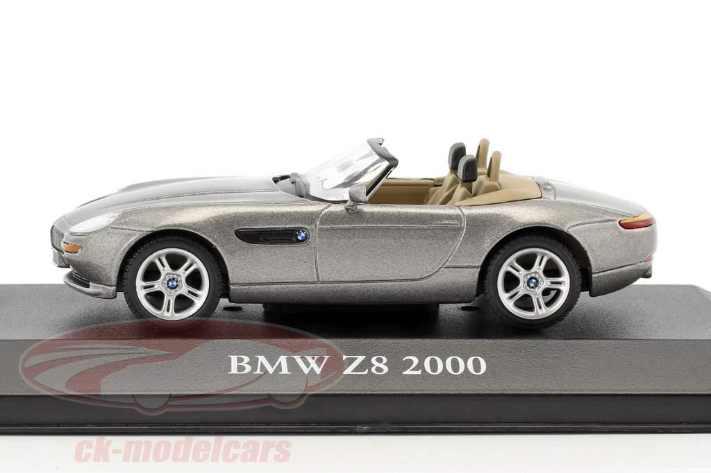 BMW Z8 année de construction 2000 gris métallique 1:43 Atlas