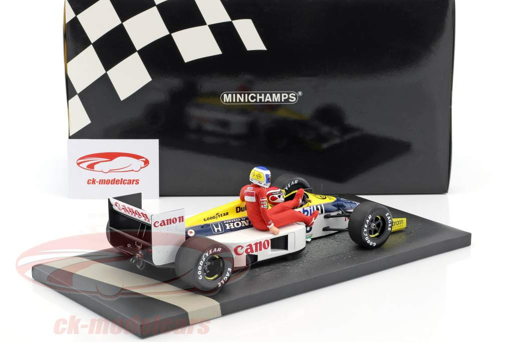 K. Rosberg riding on N. Piquet Williams FW11 #6 gagnant Allemagne GP F1 1986 1:18 Minichamps
