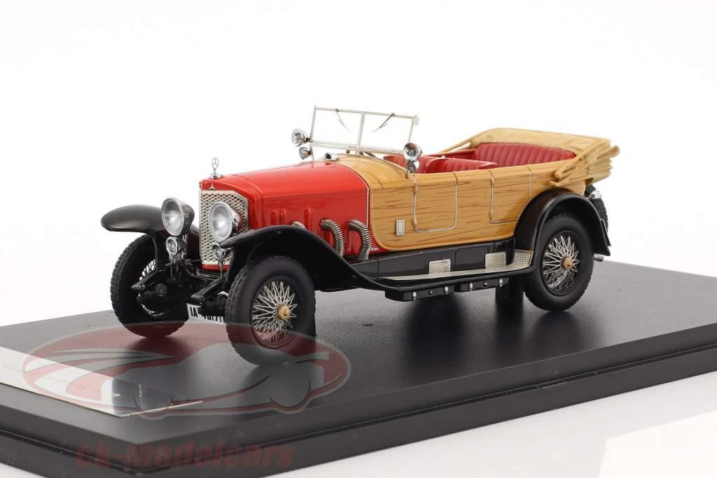 Mercedes 28/95 PS RHD Baujahr 1922 rot / holzoptik 1:43 Neo