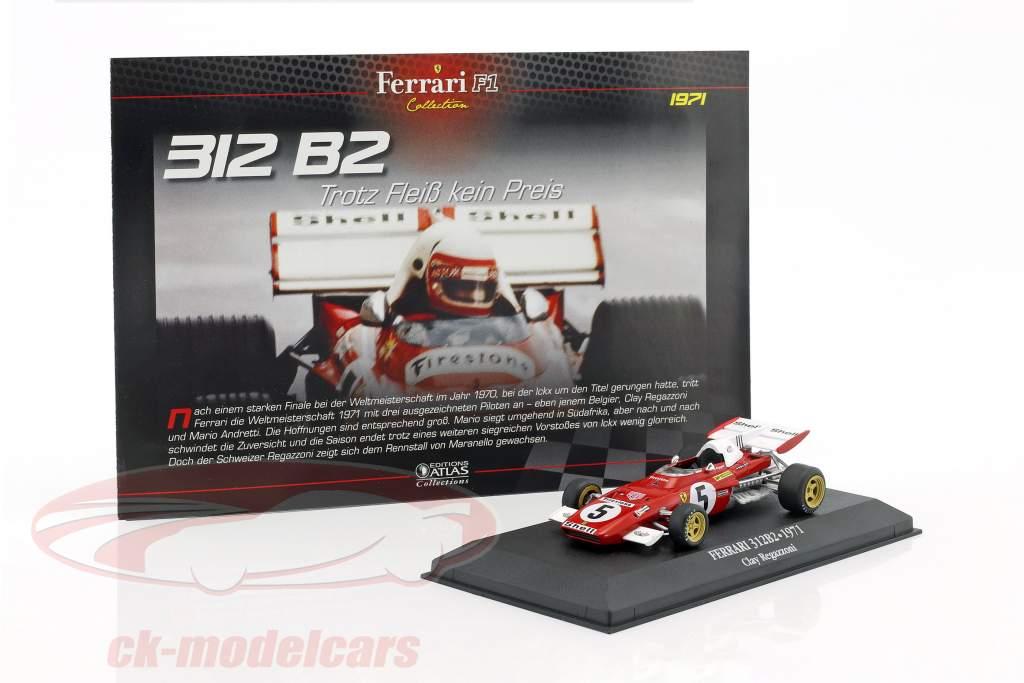 Clay Regazzoni Ferrari 312 B2 #5 formula 1 1971 1:43 Atlas