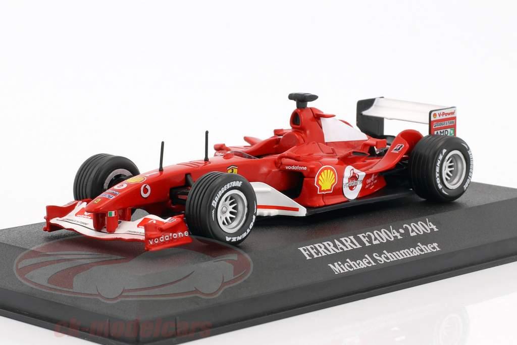 Michael Schumacher Ferrari F2004 #1 champion du monde formule 1 2004 1:43 Atlas
