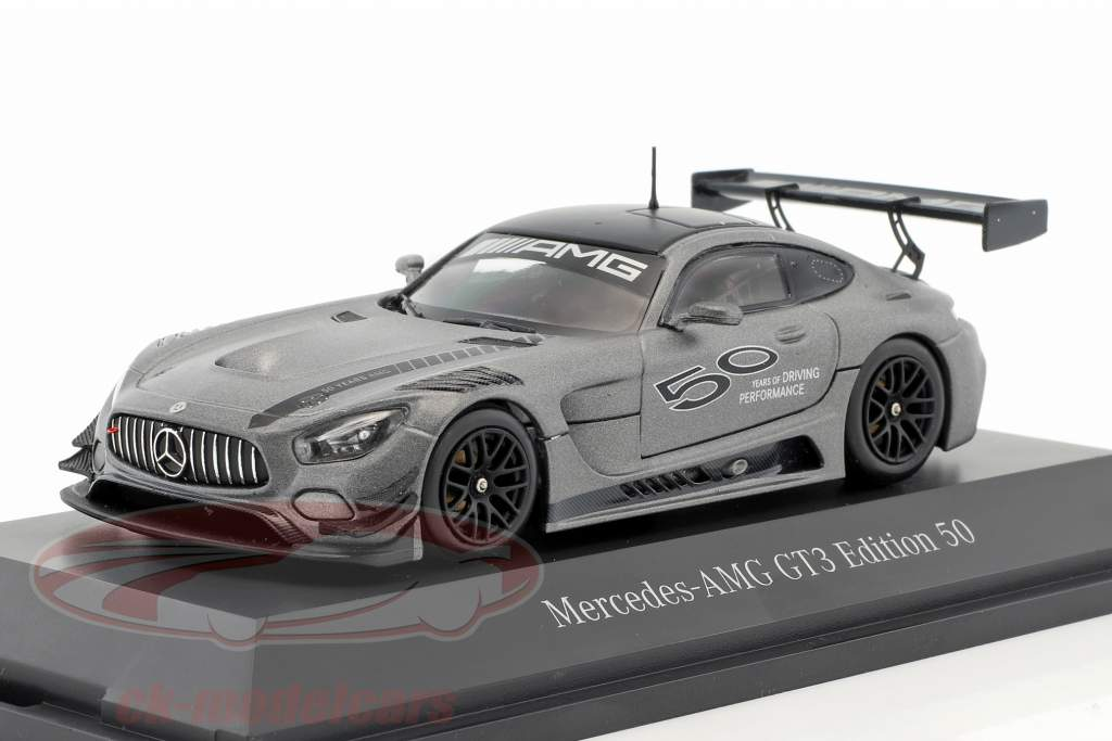 Mercedes-Benz AMG GT3 Edition 50 Jahre grau metallic 1:43 Minichamps