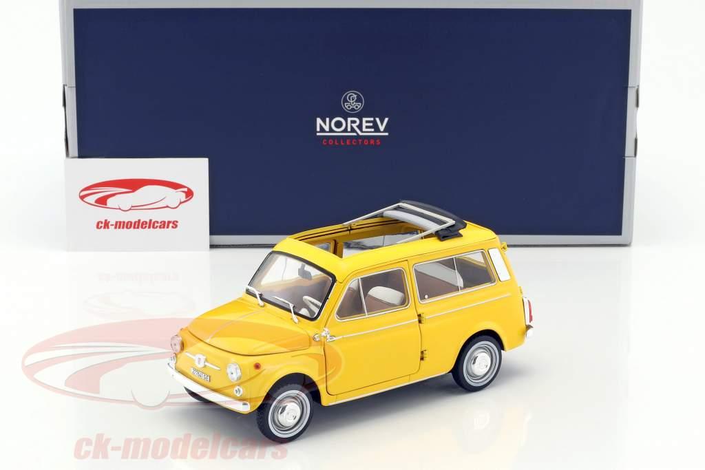 Fiat 500 Giardiniera year 1968 positano yellow 1:18 Norev