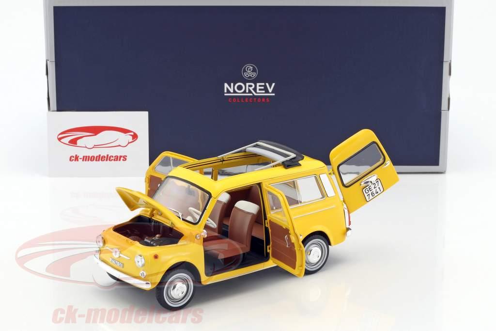Fiat 500 Giardiniera année de construction 1968 positano jaune 1:18 Norev
