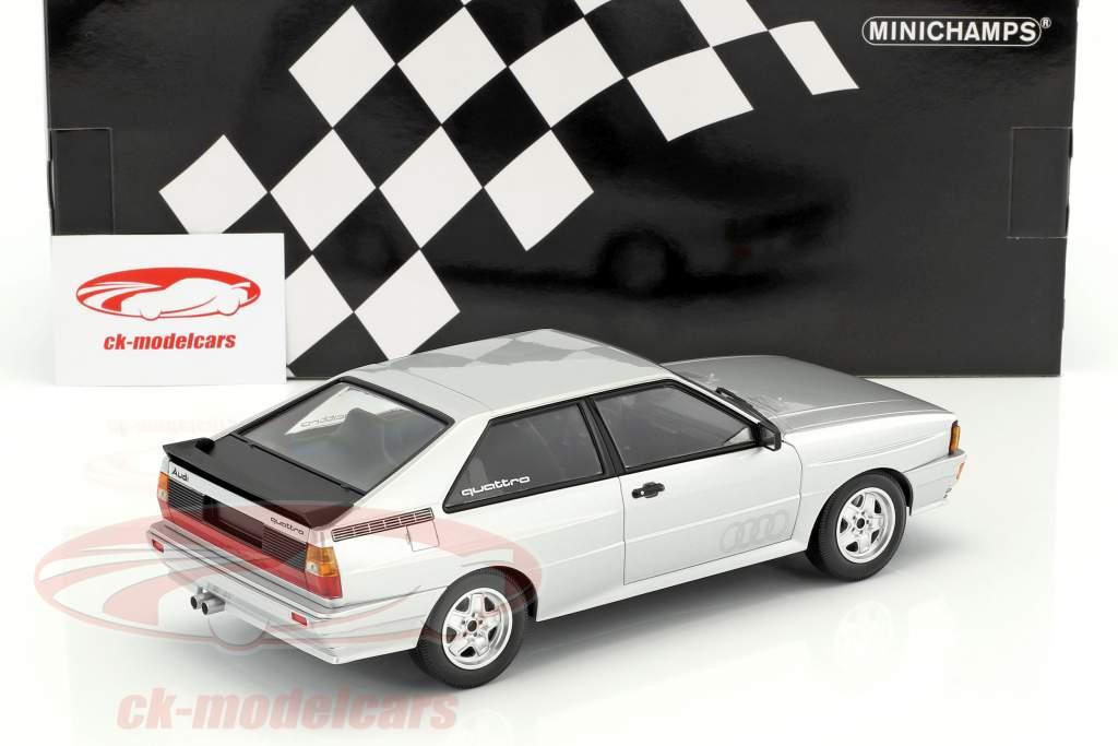 Audi Quattro anno di costruzione 1980 argento 1:18 Minichamps