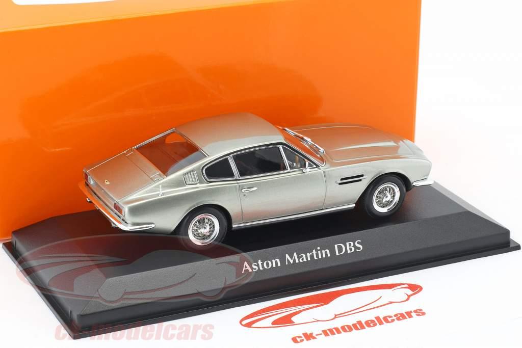 Aston Martin DBS year 1967 silver metallic 1:43 Minichamps