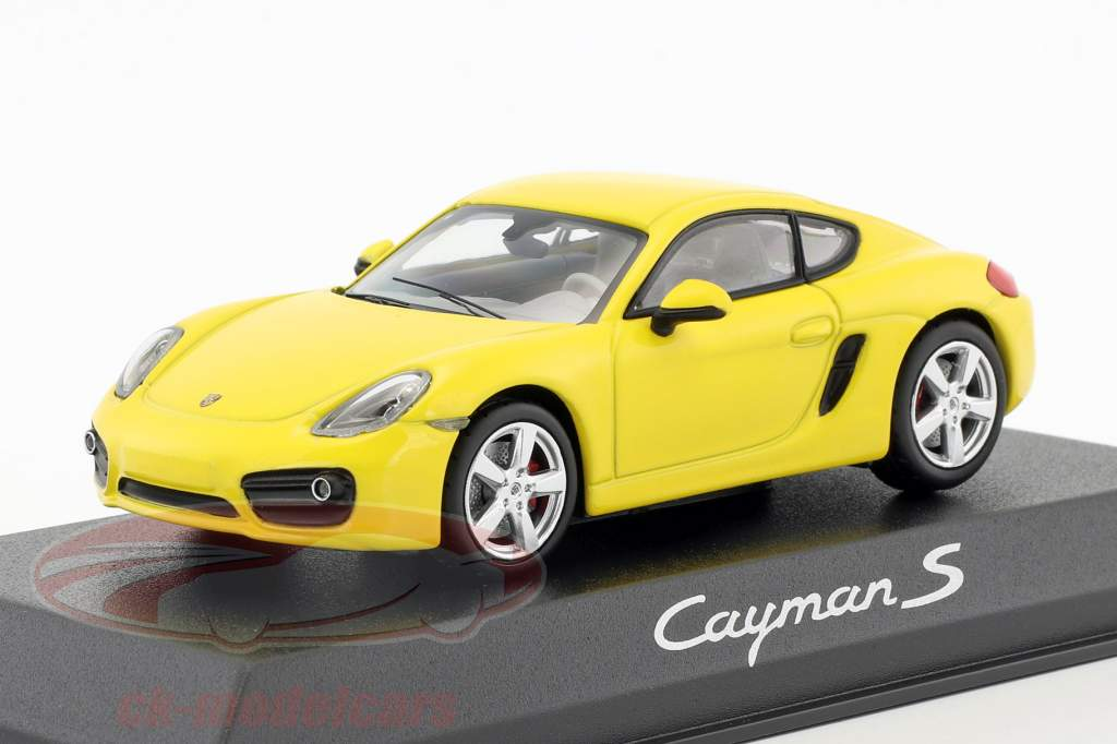 Porsche Cayman S 981 year 2013 yellow 1:43 Norev