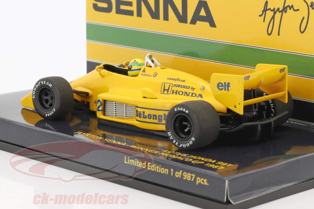 Ayrton Senna Lotus 99T #12 vincitore monaco GP formula 1 1987 1:43 Minichamps