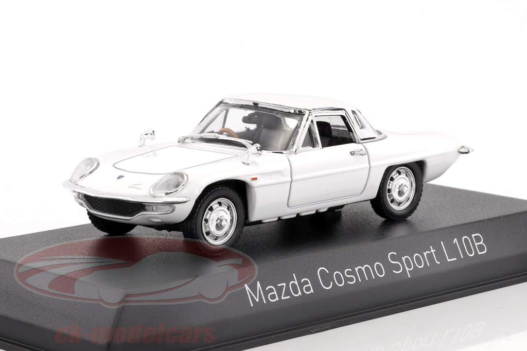 Mazda Cosmo Sport L10B year 1968 white 1:43 Norev