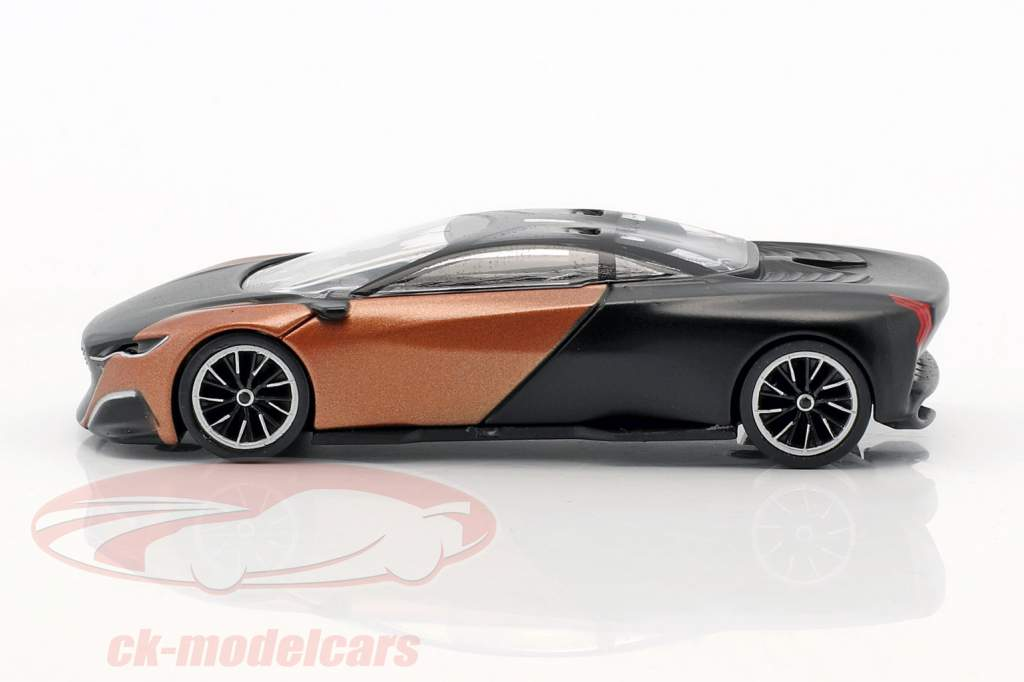 Peugeot Onyx Concept Car year 2012 mat black / copper metallic 1:55 Norev