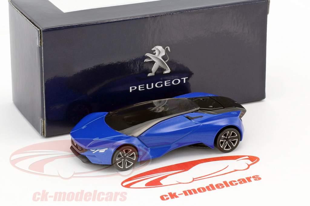 Peugeot Vision GT année de construction 2015 bleu métallique / noir 1:64 Norev
