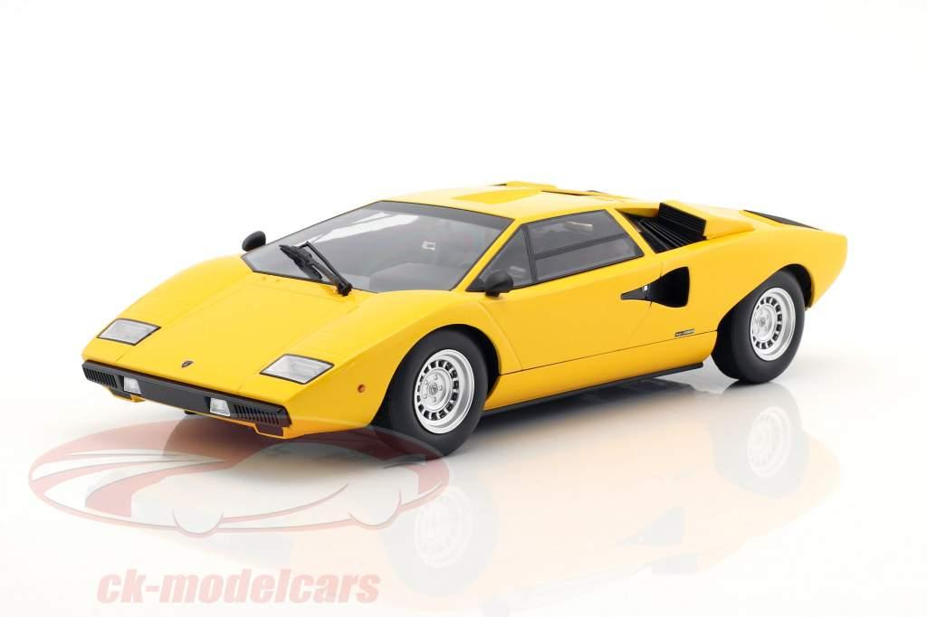 Kyosho 1 18 Lamborghini Countach Lp400 Amarelo C09531y Modelo Carro