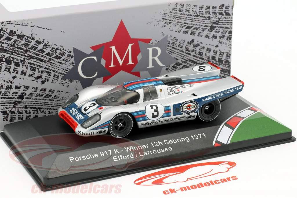 Porsche 917K #3 ganador 12h Sebring 1971 Elford, Larrousse 1:43 CMR