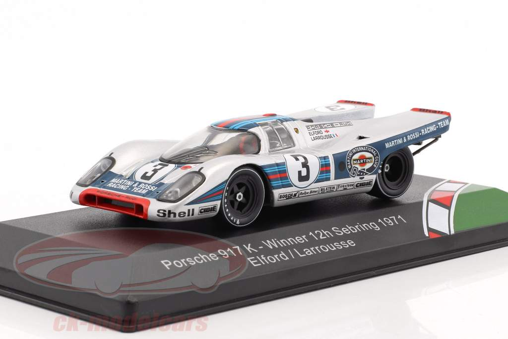 Porsche 917K #3 Winner 12h Sebring 1971 Elford, Larrousse 1:43 CMR
