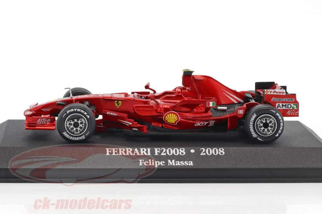 Felipe Massa Ferrari F2008 #2 2 ° F1 2008 con vetrina 1:43 Atlas