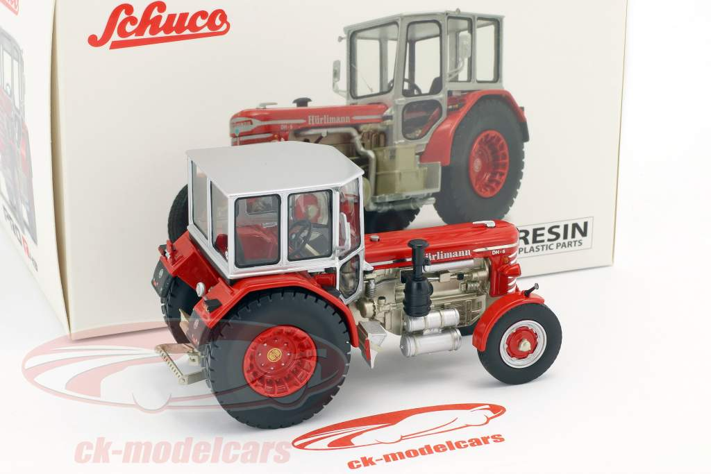 Hürlimann DH-6 traktor rød / sølv 1:43 Schuco