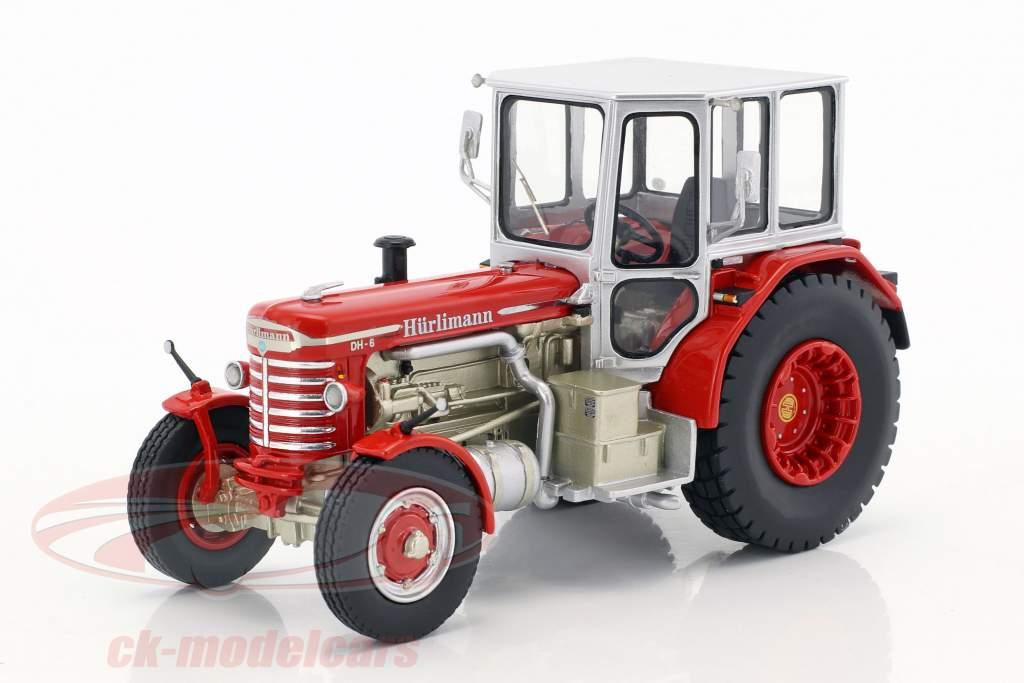 Hürlimann DH-6 Traktor rot / silber 1:43 Schuco