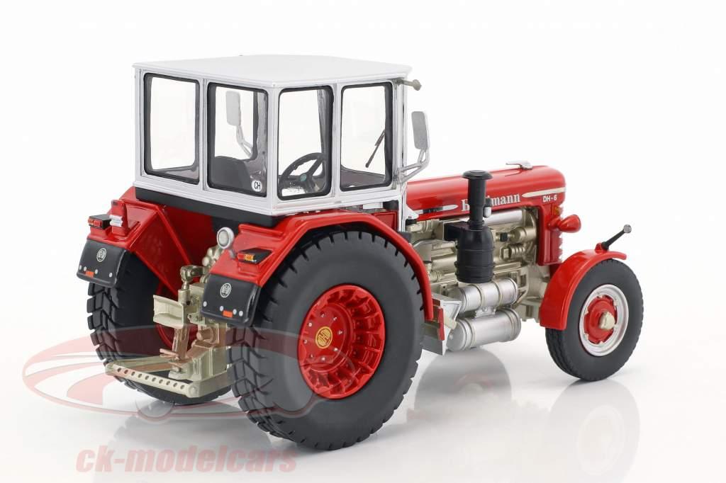 Hürlimann DH-6 tractor rojo / plata 1:43 Schuco