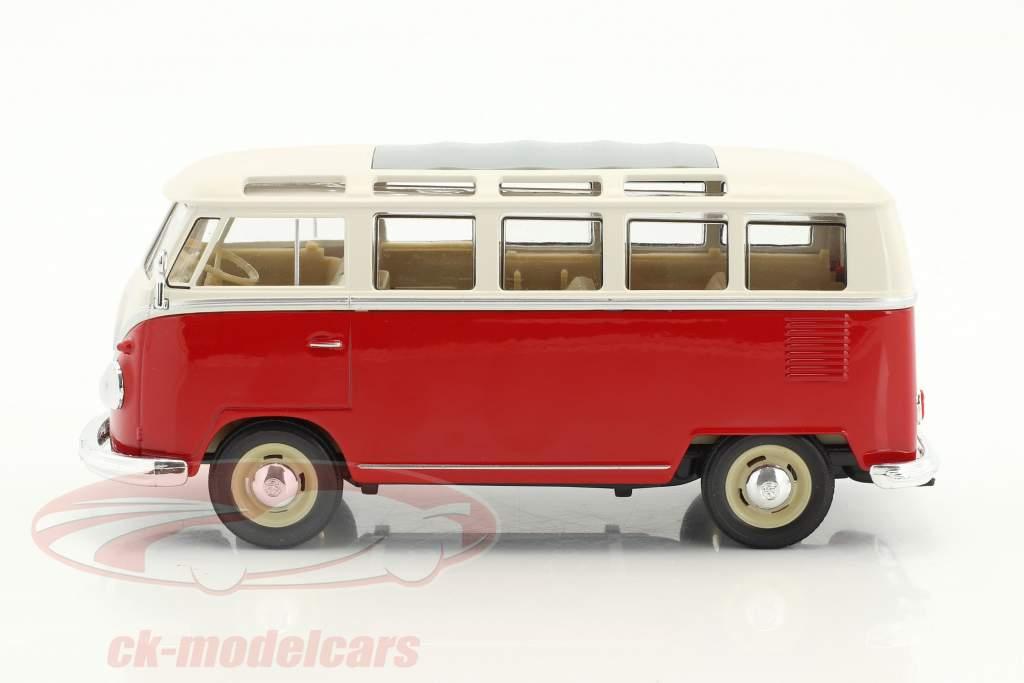 Volkswagen VW T1 bus année de construction 1963 rouge / blanc 1:24 Welly
