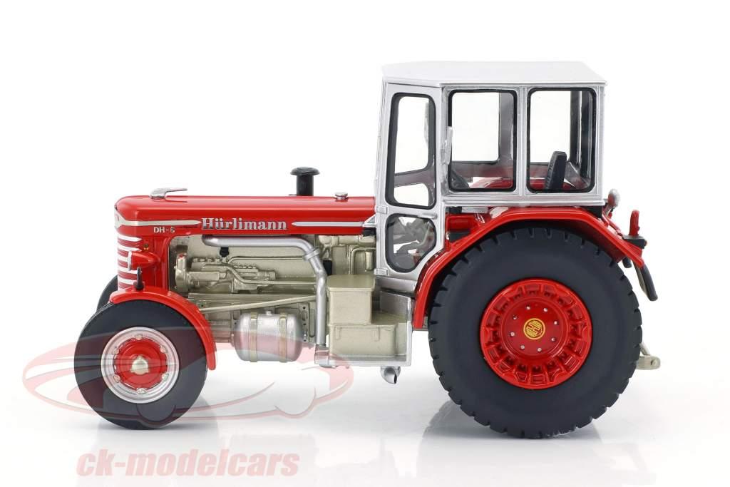 Hürlimann DH-6 tracteur rouge / argent 1:43 Schuco