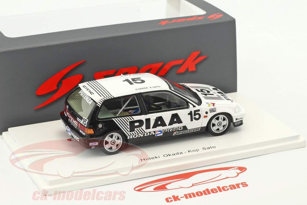 Honda Civic EF3 #15 2 ° Grp3 JTC Suzuka 1989 Okada, Sato 1:43 Spark