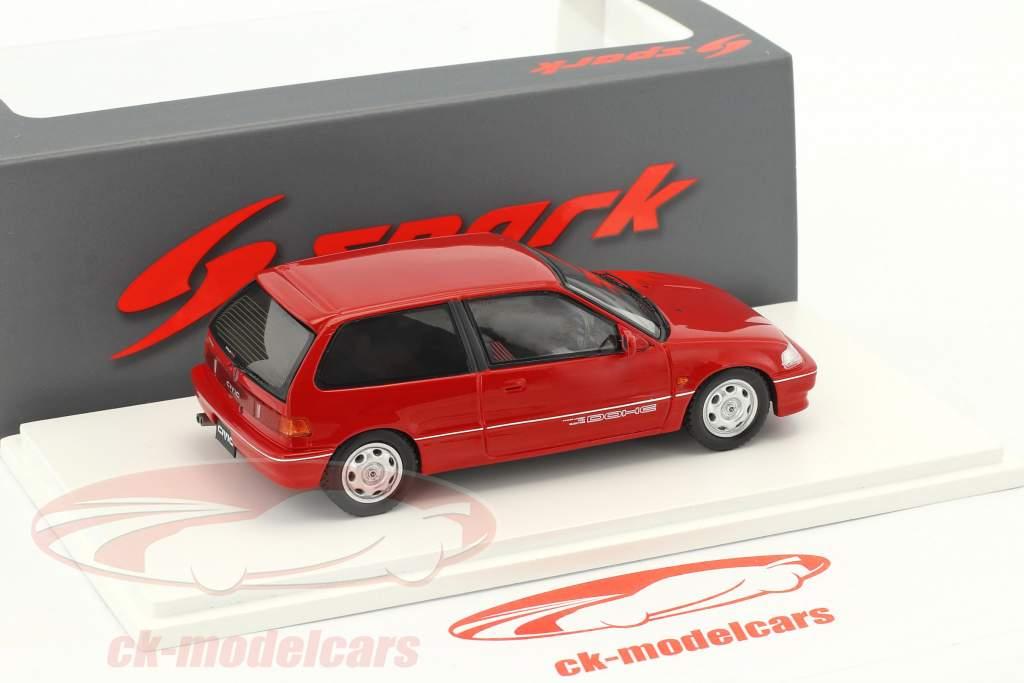 Honda Civic EF3 Si année de construction 1987 rouge 1:43 Spark