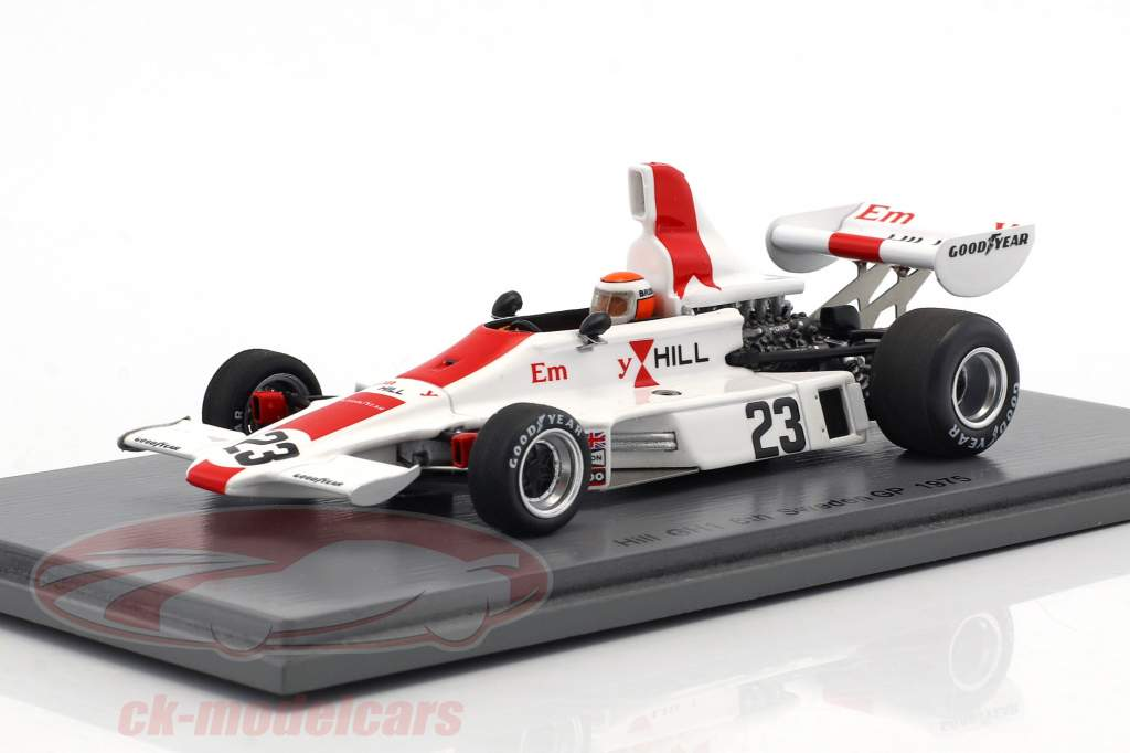 Tony Brise Hill GH 1 #23 Svezia GP formula 1 1975 1:43 Spark
