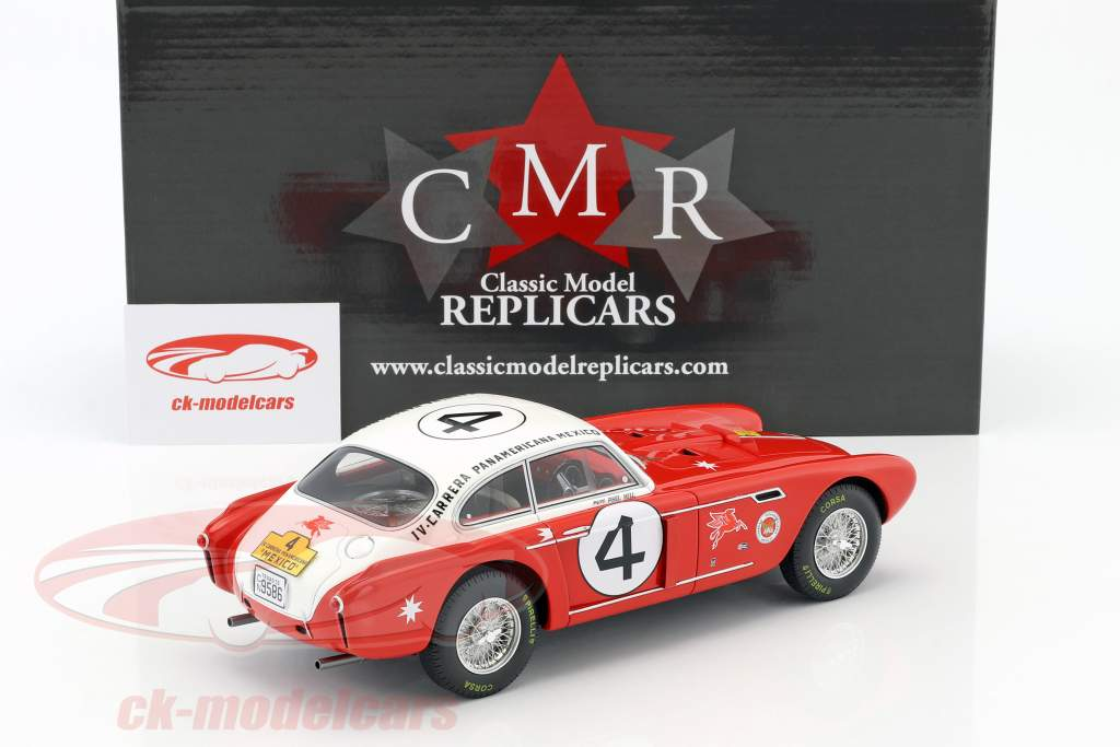 Ferrari 340 Berlinetta Mexico #4 Carrera Panamericana 1953 Hill, Ginther 1:18 CMR