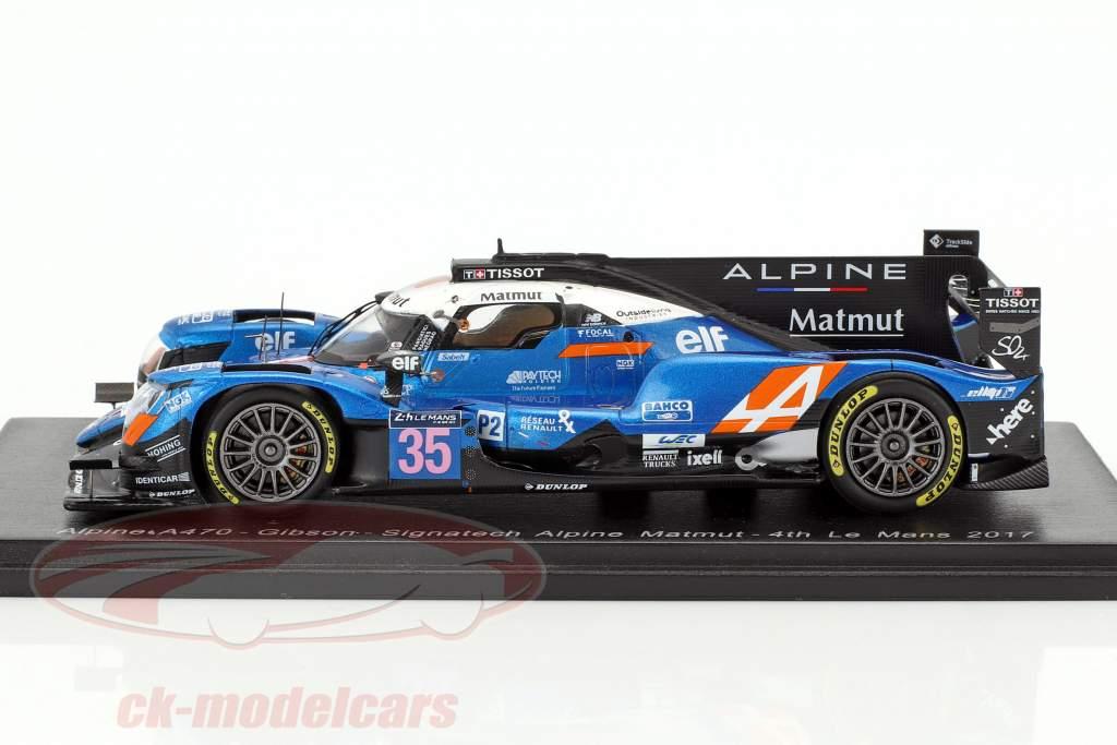 Alpine A470 #35 4 24h LeMans 2017 Panciatici, Ragues, Negrao 1:43 Spark