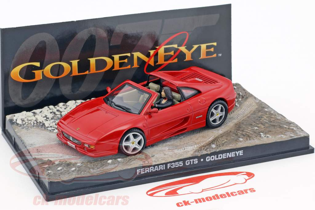 Ferrari F355 GTS coche película de James Bond Goldeneye rojo Ixo 1:43