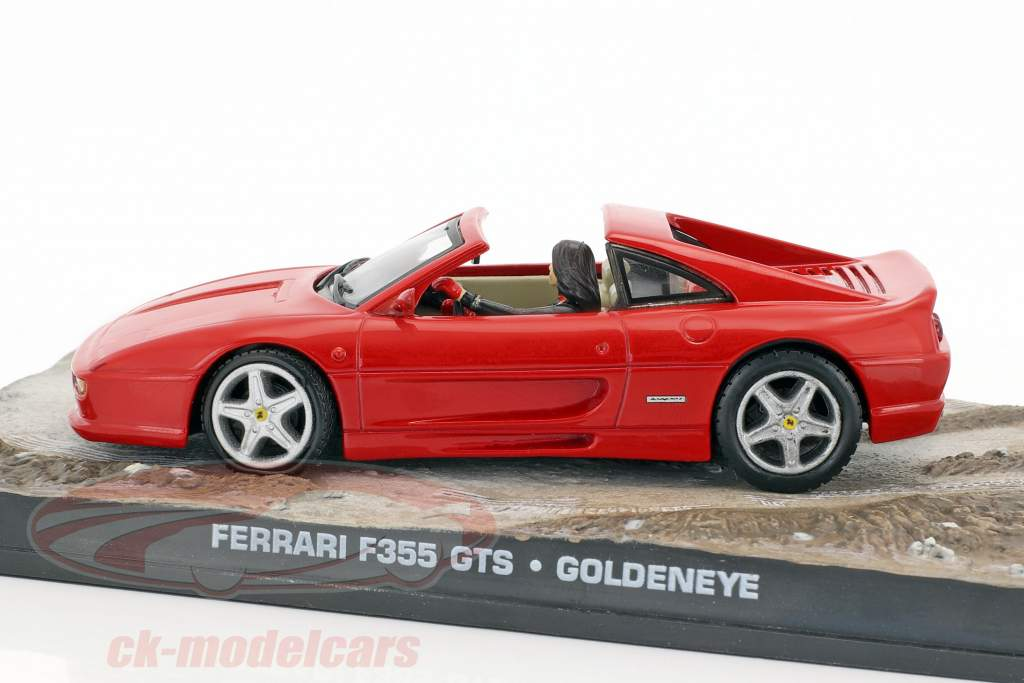 フェラーリF355 GTS車ジェームズボンド映画ゴールデン赤モデルIxo 1時43分