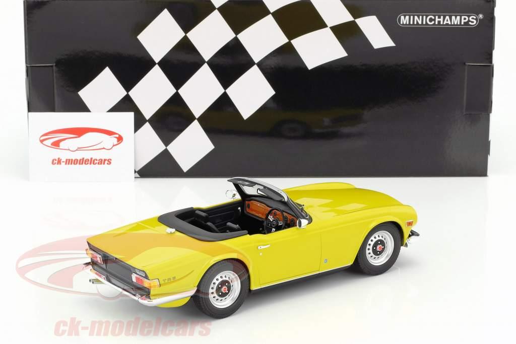 Triumph TR6 année de construction 1973 jaune 1:18 Minichamps