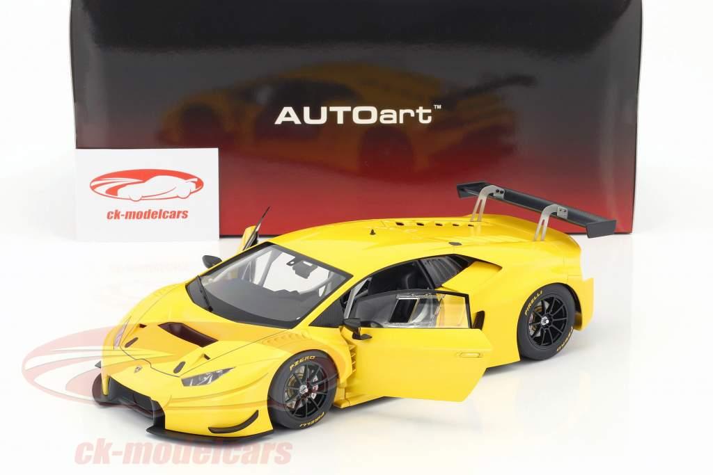 Lamborghini Huracan GT3 year 2015 yellow 1:18 AUTOart