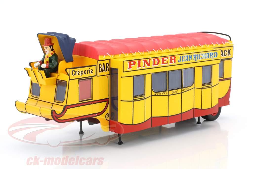 semirremolque Creperie / Snack Bar Pinder circo amarillo / rojo 1:43 Direkt Collections